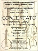 Konzert des international anerkannten Consortes für Renaissancemusik Concerto Antiko