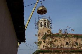 St Iliya church in Plovdiv has a new golden dome