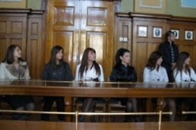BG students at the  European Parliament in Strasbourg
