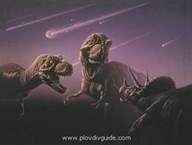 Weihnachtsbasar mit Luft-Dinosauren