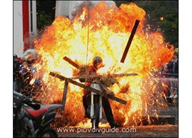 The first motocyle stunt show in Bulgaria - in Plovdiv