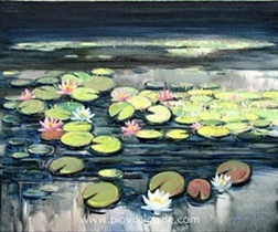 """Water Lilies"" - exhibition of the artist Angel Pachamanov at the Hebros Art Club Gallery"