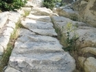 The stone-cut stairs