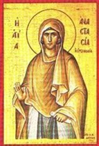 ST. ANASTASIA  - December 22