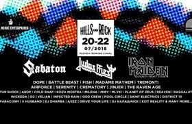 Фестивалът HILLS OF ROCK 2018 добавя нови 14 имена към второто си издание