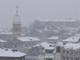 Snow in Plovdiv at last !