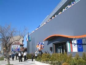 The President of Bulgaria, Georgi Purvanov, on a visit to Plovdiv